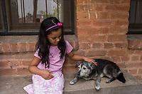 Nepal, Kathmandu. Som & Sajani's daughter.