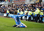 Dundee United v St Johnstone....21.11.15  SPFL,  Tannadice, Dundee<br /> Murray Davidson celebrates his goal<br /> Picture by Graeme Hart.<br /> Copyright Perthshire Picture Agency<br /> Tel: 01738 623350  Mobile: 07990 594431