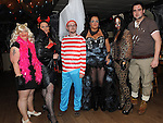 Angela McGovern, Margaret Kierans, Shane McQuillan, Jane farrell, Kate Halligan and Rob McKenna pictured at the Halloween fancy dress party in the Rugby club. Photo:Colin Bell/pressphotos.ie
