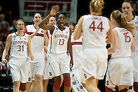 SPOKANE, WA - MARCH 28, 2011: Chiney Ogwumike at the Stanford Women's Basketball vs Gonzaga, NCAA West Regional Finals at the Spokane Arena on March 28, 2011.