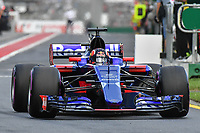 March 25, 2017: Daniil Kvyat (RUS) #26 from the Scuderia Toro Rosso team leaves the pits for the qualifying session at the 2017 Australian Formula One Grand Prix at Albert Park, Melbourne, Australia. Photo Sydney Low