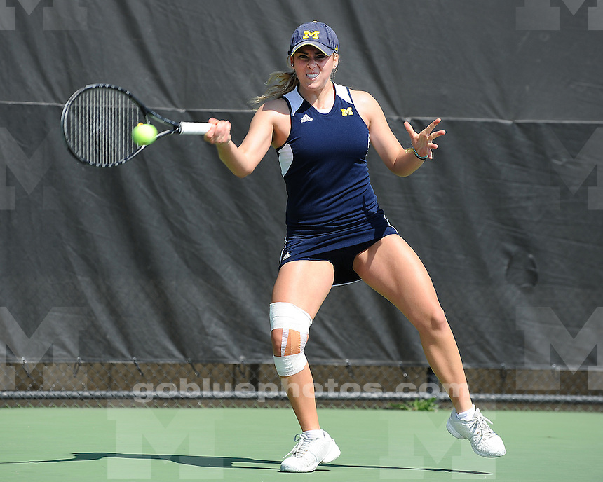 The University of Michigan women's tennis team beat Minnesota, 6-1, at the Varsity Tennis Center in Ann Arbor, Mich., on March 25, 2012.