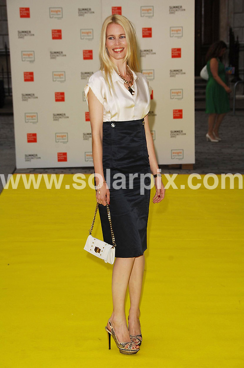 **ALL ROUND PICTURES FROM SOLARPIX.COM**.**WORLDWIDE SYNDICATION RIGHTS**.Claudia Schiffer.arriving at  the Royal Academy Summer Exhibition 2007 - VIP private view.Venue: Royal Academy Of Arts, London, W1, Attend world's oldest and largest open art competition and exhibition, displaying around 1000 works from 13,000 submissions. £70k worth of prizes are awarded during exhibition..JOB REF:  4041   MSR    DATE: 06.06.07.**MUST CREDIT SOLARPIX.COM OR DOUBLE FEE WILL BE CHARGED* *UNDER NO CIRCUMSTANCES IS THIS IMAGE TO BE REPRODUCED FOR ANY ONLINE EDITION WITHOUT PRIOR PERMISSION*