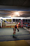 USA, Oahu, Hawaii, MMA Mixed Martial Arts Ultimate fighter Lowen Tynanes at his training gym in Honolulu