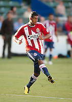 CARSON, CA – SEPTEMBER 19: Chivas USA defender Dario Delgado (12) during a soccer match at Home Depot Center, September 19, 2010 in Carson California. Final score Chivas USA 0, Kansas City Wizards 2.