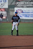 Cesar Garcia (7) of the Missoula Osprey on defense against the Ogden Raptors at Lindquist Field on July 12, 2018 in Ogden, Utah. Missoula defeated Ogden 11-4. (Stephen Smith/Four Seam Images)