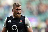 Brad Shields of England looks on during the pre-match warm-up. Guinness Six Nations match between England and Italy on March 9, 2019 at Twickenham Stadium in London, England. Photo by: Patrick Khachfe / Onside Images