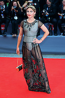A guest attends the red carpet for the movie 'Black Mass' during 72nd Venice Film Festival at the Palazzo Del Cinema in Venice, Italy, September 4, 2015. <br /> UPDATE IMAGES PRESS/Stephen Richie