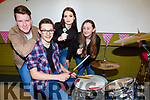Brian Kelleher, Jack Ryan, Julia Meckiewicz and Rachel Griffin who competed in the Killarney Community College Who's Got Talent show in the school on Friday