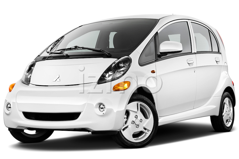 Low aggressive front three quarter view of a 2012 Mitsubishi MiEV SE .