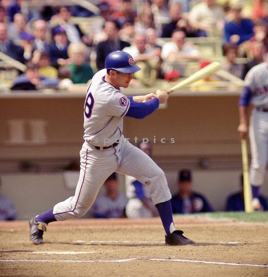 Chicago Cubs Glen Beckert (18) during a game  from his 1968 season against the New York Mets at Shea Stadium in Flushing Meadows. Glen Beckert  played for 11 season, with 2 different teams and was a 4-time All-Star.(SportPics)