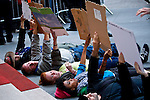 NEW YORK, NY - APRIL 20: Members of Occupy Wall Street gather financial district during a spring training protest on April 20, 2012 in New York City