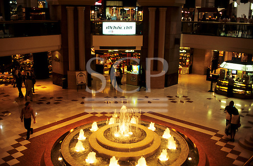 Buenos Aires, Argentina. The interior of the Galeria Pacifica shopping centre with fountain.