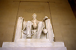 DC: Washington, DC Monuments, Lincoln Memorial         .Photo Copyright Lee Foster, lee@fostertravel.com, www.fostertravel.com, (510) 549-2202.Image washdc202
