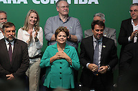 CURITIBA, PR, 09.05.2014 -  LANÇAMENTO DO EDITAL DO METRÔ / CURITIBA - A Presidente Dilma Rousseff durante o lançamento do edital de licitação da parceria Público-Privada do metrô de Curitiba, na tarde desta sexta-feira (09) na sede da federação das Indústrias do Estado do Paraná. (Foto: Paulo Lisboa / Brazil Photo Press)