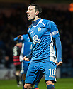 Queen of the South's Nicky Clark celebrates after he scores their second goal.