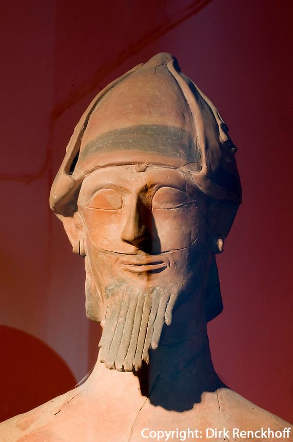 Zypern (Süd), Nationalmuseum in Nicosia (Lefkosia), Fund aus Agia Irini, Terrakotta , aus der Bronzezeit 1.500-1200 v. Chr. ?