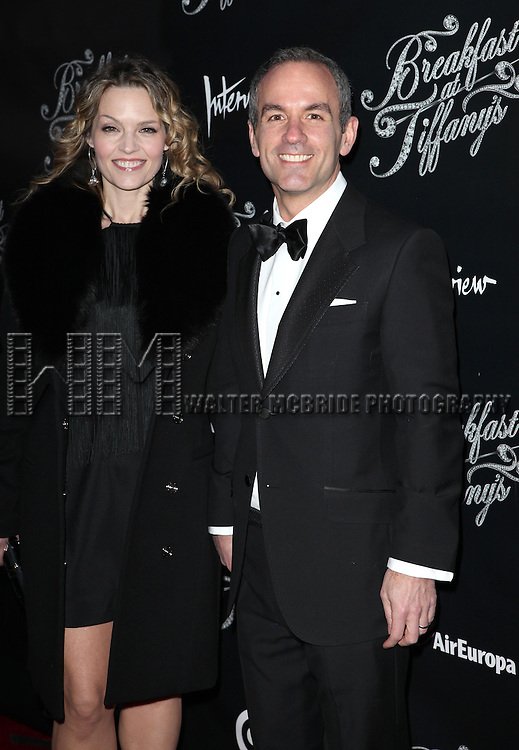 Debbie Mannato & Donovan Mannato  attending the Opening Night Performance of 'Breakfast At Tiffany's' at the Cort Theatre in New York City on 3/20/2013