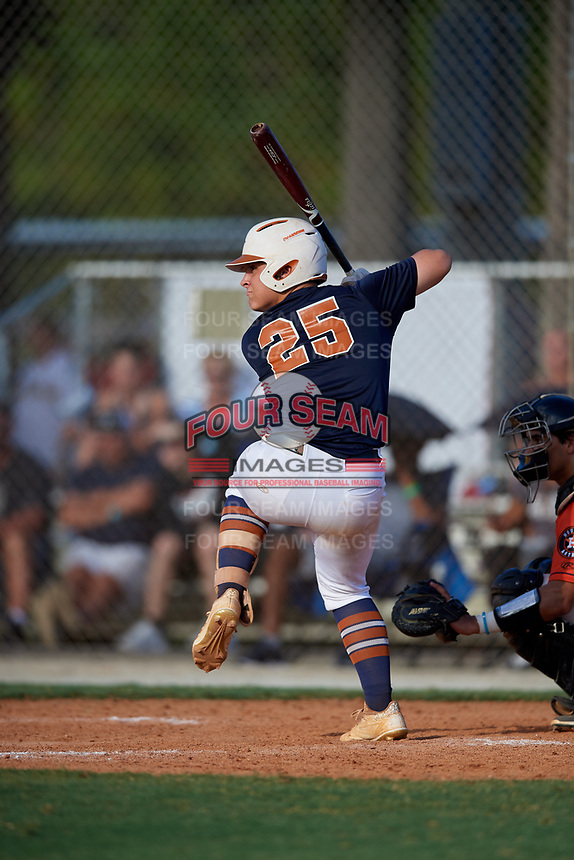 Ethan Stamps during the WWBA World Championship at the Roger Dean Complex on October 18, 2018 in Jupiter, Florida.  Ethan Stamps is a second baseman from Madison, Georgia who attends Morgan County High School.  (Mike Janes/Four Seam Images)