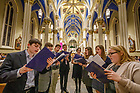December 2, 2018; Advent Lessons and Carols in the Basilica of the Sacred Heart. (Photo by Peter Ringenberg/University of Notre Dame)