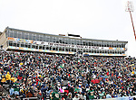 The University of Texas at El Paso grand stands get filled to a record crowd during the 2010 Hyundai Sun Bowl football game between the Notre Dame Fighting Irish and the Miami Hurricanes at the Sun Bowl Stadium in El Paso, Tx. Notre Dame defeats Miami 33 to 17...