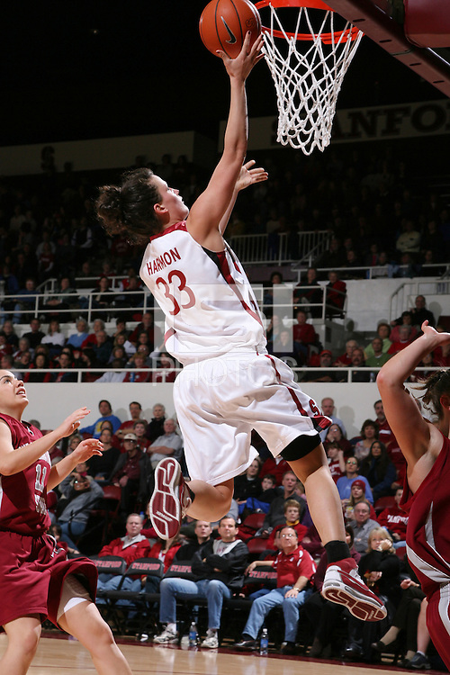 28 December 2007: Jillian Harmon during Stanford's 105-47 win over Washington State at Maples Pavilion in Stanford, CA.