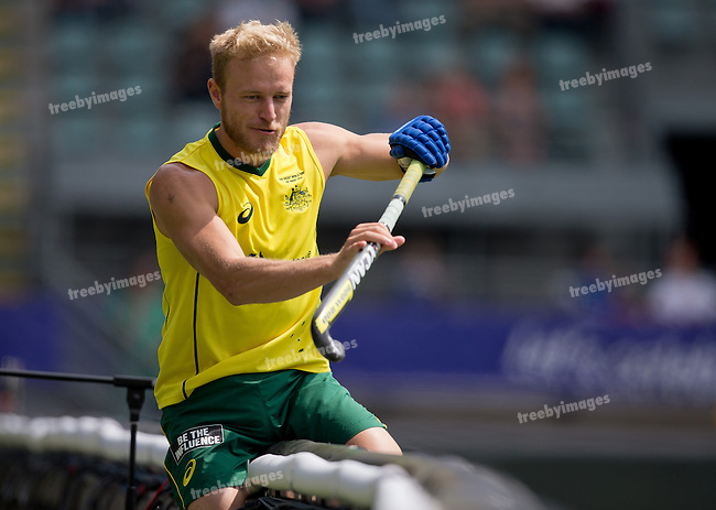 Hockey World Cup 2014<br /> The Hague, Netherlands <br /> Day 3 Mens Australia v Spain<br /> <br /> Photo: Grant Treeby<br /> www.treebyimages.com.au