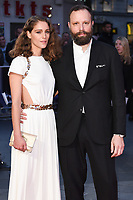 Director Yorgos Lanthimos &amp; wife Arianne Labed at the London Film Festival 2017 screening of &quot;The Killing of a Sacred Deer&quot; at Odeon Leicester Square, London, UK. <br /> 12 October  2017<br /> Picture: Steve Vas/Featureflash/SilverHub 0208 004 5359 sales@silverhubmedia.com
