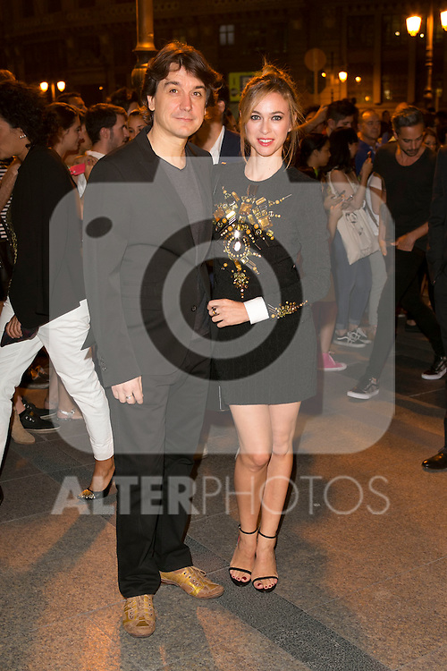 Javier Veiga and Marta Hazas attends the party of Nike and Roberto Tisci at the Casino in Madrid, Spain. September 15, 2014. (ALTERPHOTOS/Carlos Dafonte)