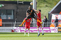 John Akinde of Barnet during the Sky Bet League 2 match between Barnet and Grimsby Town at The Hive, London, England on 29 April 2017. Photo by David Horn.