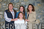 Noel,Sarah and Sheila Hartnett,Tralee whith their daughter Amy as she took part in the Corpus Christi Pocession from St John's Church, Tralee to Ard Na Li? Oakpark, Tralee on Saturday evening/...................................... ....
