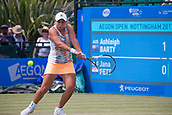 June 14th 2017, Nottingham,  England; WTA Aegon Nottingham Open Tennis Tournament day 5;  Ashleigh Barty of Australia in action on centre court against Jana Fett of Croatia