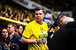 11.05.2019, Signal Iduna Park, Dortmund, GER, 1.FBL, Borussia Dortmund vs Fortuna D&uuml;sseldorf, DFL REGULATIONS PROHIBIT ANY USE OF PHOTOGRAPHS AS IMAGE SEQUENCES AND/OR QUASI-VIDEO<br /> <br /> im Bild | picture shows:<br /> Thomas Helmer (ehemals BVB) wird vor dem Spiel, gemeinsam mit den DFB Pokalsiegern von 1989 geehrt, <br /> <br /> Foto &copy; nordphoto / Rauch