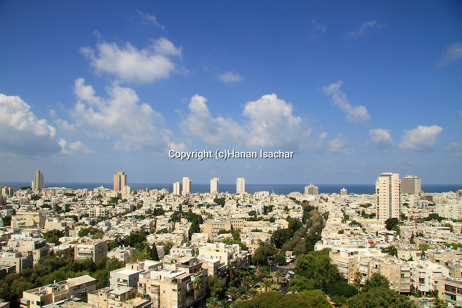 Israel, a view of Tel Aviv from the roof of the Tel Aviv Municipality