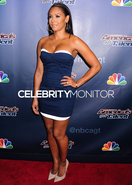 NEW YORK CITY, NY, USA - JULY 30: Mel B, Melanie Brown arrives at the 'America's Got Talent' Season 9 Post Show Red Carpet Event held at Radio City Music Hall on July 30, 2014 in New York City, New York, United States. (Photo by Celebrity Monitor)