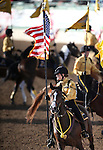 The California Rangers Eagle Troop performs at the Reno Rodeo in Reno, Nev., on Friday, June 20, 2014.<br />