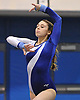Dakota Ejnes of Long Beach performs her floor routine during a varsity gymnastics meet against Bethpage at Long Beach High School on Monday, Jan. 4, 2016. Long Beach won the meet by a score of 151.55-147.60.