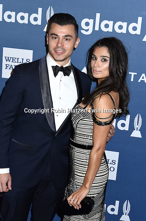 Diane Guerrero and Joe Ferraro attends the 27th Annual GLAAD Media Awards on May 14, 2016 at the Waldorf Astoria Hotel in New York City, New York, USA.<br /> <br /> photo by Robin Platzer/Twin Images<br />  <br /> phone number 212-935-0770