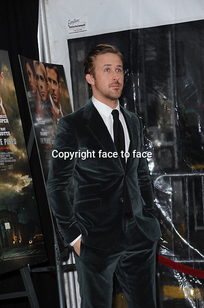 """Ryan Gosling attending the """"The Place Beyond the Pines"""" New York Premiere at Landmark Sunshine Cinema on March 28, 2013 in New York City...Credit: MediaPunch/face to face..- Germany, Austria, Switzerland, Eastern Europe, Australia, UK, USA, Taiwan, Singapore, China, Malaysia and Thailand rights only -"""