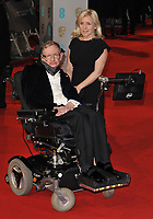 LONDON, ENGLAND - FEBRUARY 08: Professor Stephen Hawking &amp; Lucy Hawking attend the EE British Academy Film Awards 2015, Royal Opera House, Covent Garden, on Sunday February 08, 2015 in London, England, UK. <br /> CAP/CAN<br /> &copy;CAN/Capital Pictures /MediaPunch ***NORTH AND SOUTH AMERICAS ONLY***