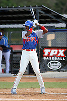 Ronald Rosario participates in the Dominican Prospect League showcase at the New York Yankees academy on September 19,2013 in Boca Chica, Dominican Republic.