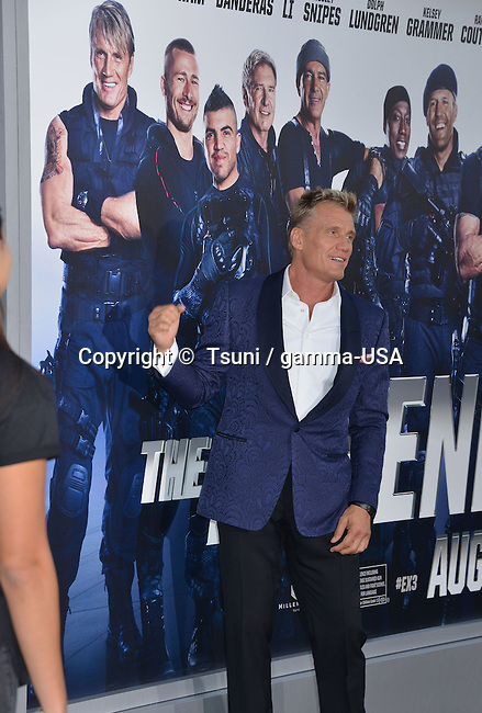 Dolph Ludgren  at he Expendables 3 Premiere at the Chinese Theatre in Los Angeles.
