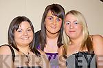 Enjoying the Abbeyfeale United Social at the Devon inn Hotel Templeglantine on Saturday night were Elizabeth Mulcahy, Nicola Keane and Lisa Nash...   Copyright Kerry's Eye 2008