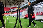 KALMAR, SWEDEN - JULY 01: Marco Weymans of Ostersunds FK enters the stadium ahead of the Allsvenskan match between Kalmar FF and Ostersunds FK at Guldfageln Arena on July 1, 2020 in Kalmar, Sweden. (Photo by David Lidström Hultén/LPNA)