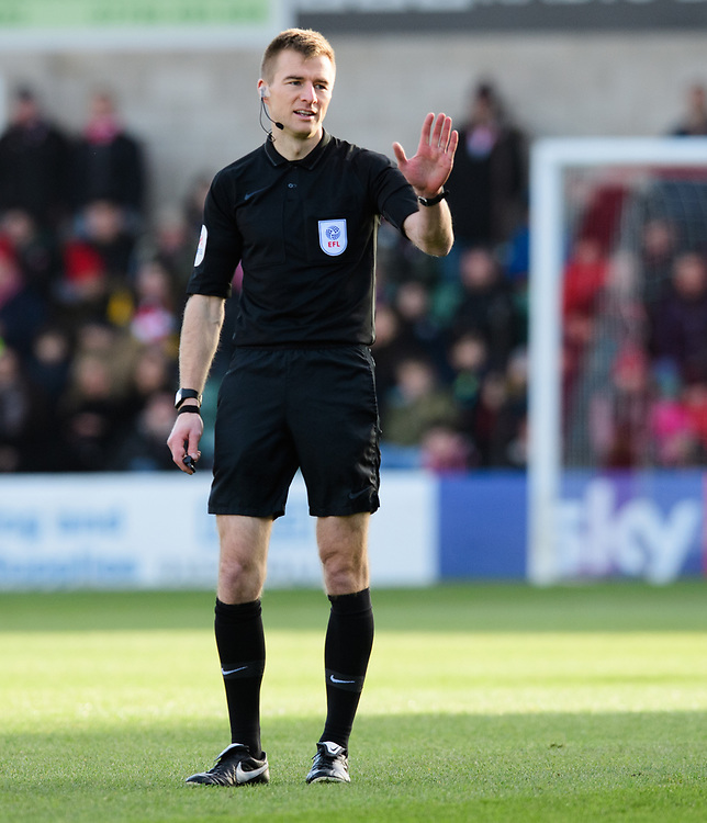 Referee Michael Salisbury<br /> <br /> Photographer Chris Vaughan/CameraSport<br /> <br /> The EFL Sky Bet League Two - Lincoln City v Northampton Town - Saturday 9th February 2019 - Sincil Bank - Lincoln<br /> <br /> World Copyright &copy; 2019 CameraSport. All rights reserved. 43 Linden Ave. Countesthorpe. Leicester. England. LE8 5PG - Tel: +44 (0) 116 277 4147 - admin@camerasport.com - www.camerasport.com