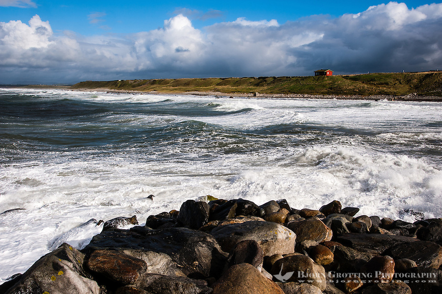 Norway, Rogaland. Stormy weather at Bore, Jæren.