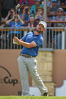 Brian Harman (USA) watches his tee shot on 16 during day 2 of the Valero Texas Open, at the TPC San Antonio Oaks Course, San Antonio, Texas, USA. 4/5/2019.<br /> Picture: Golffile | Ken Murray<br /> <br /> <br /> All photo usage must carry mandatory copyright credit (&copy; Golffile | Ken Murray)