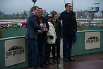 ARCADIA, CA  MARCH 10:  The connections of #7 Accelerate, ridden by Victor Espinoza, in the winners circle after winning the Santa Anita Handicap (Grade l) on March 10, 2018, at Santa Anita Park in Arcadia, CA. (Photo by Casey Phillips/ Eclipse Sportswire/ Getty Images)