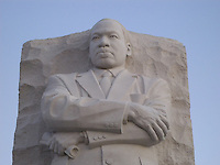 Martin Luther King, Jr. monument close-up at dawn, Washington, DC.