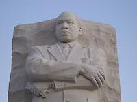Martin Luther King, Jr. monument close-up at dawn, Washington, DC.